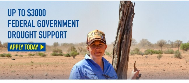 Up to $3000 Federal Government Drought Support Apply Today, Farmer in Paddock